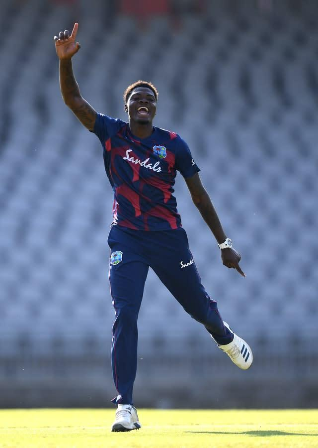 Alzarri Joseph, pictured, is hoping to prove his class in the West Indies' three-Test series against England (Gareth Copley/PA)