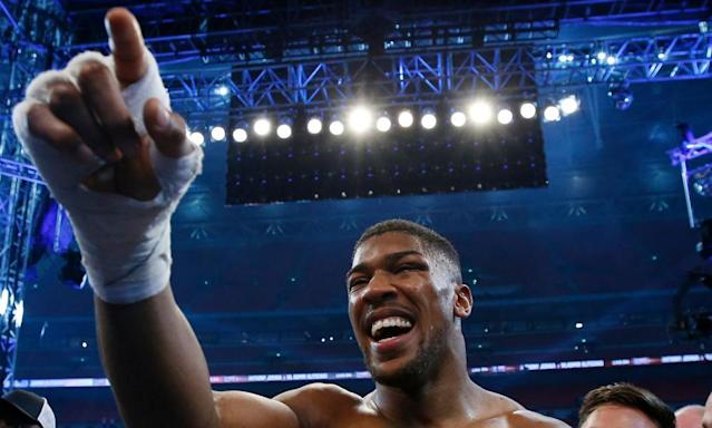 "<span class=""element-image__caption"">The odds are Anthony Joshua will not fight again until October, possibly in Madison Square Garden</span> <span class=""element-image__credit"">Photograph: Andrew Couldridge/Reuters</span>"