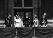"""<p><a href=""""https://www.townandcountrymag.com/leisure/arts-and-culture/a4703/first-look-at-netflix-series-the-crown/"""" rel=""""nofollow noopener"""" target=""""_blank"""" data-ylk=""""slk:Princess Elizabeth and Prince Philip"""" class=""""link rapid-noclick-resp"""">Princess Elizabeth and Prince Philip</a> marry on November 20 after getting engaged in July.</p>"""