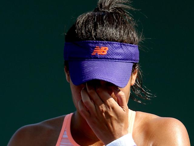 Heather Watson exited the tournament at the first round stage: Getty