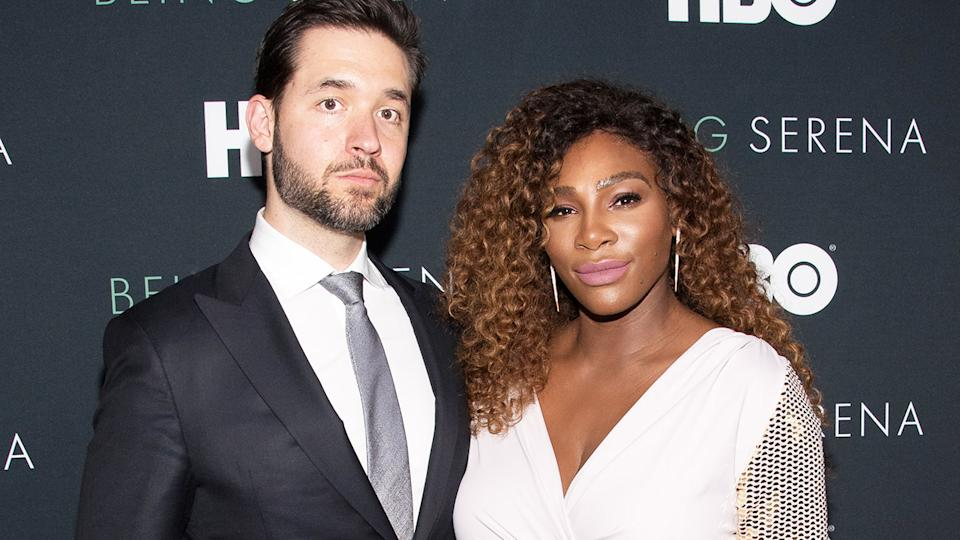 Serena Williams and husband Alexis Ohanian, pictured here at the