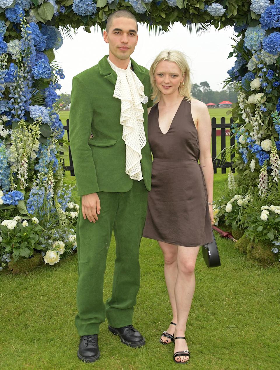 <p>Maisie Williams and Reuben Selby stand out at Cartier Queen's Cup Polo 2021 in Egham, England.</p>