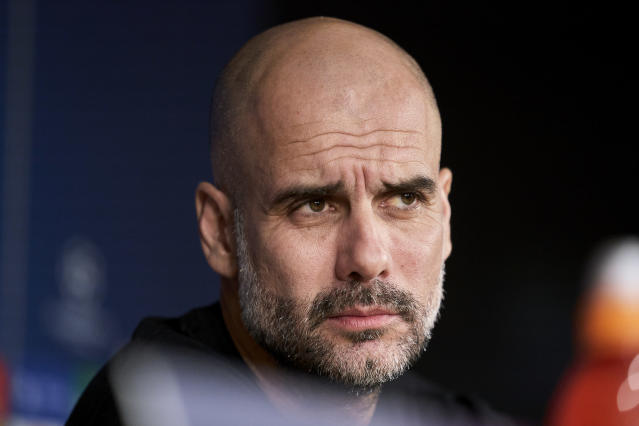 Dolors Sala Carrio, mother of Manchester City manager Pep Guardiola (above), has died because of COVID-19. (Legan P. Mace/Getty)