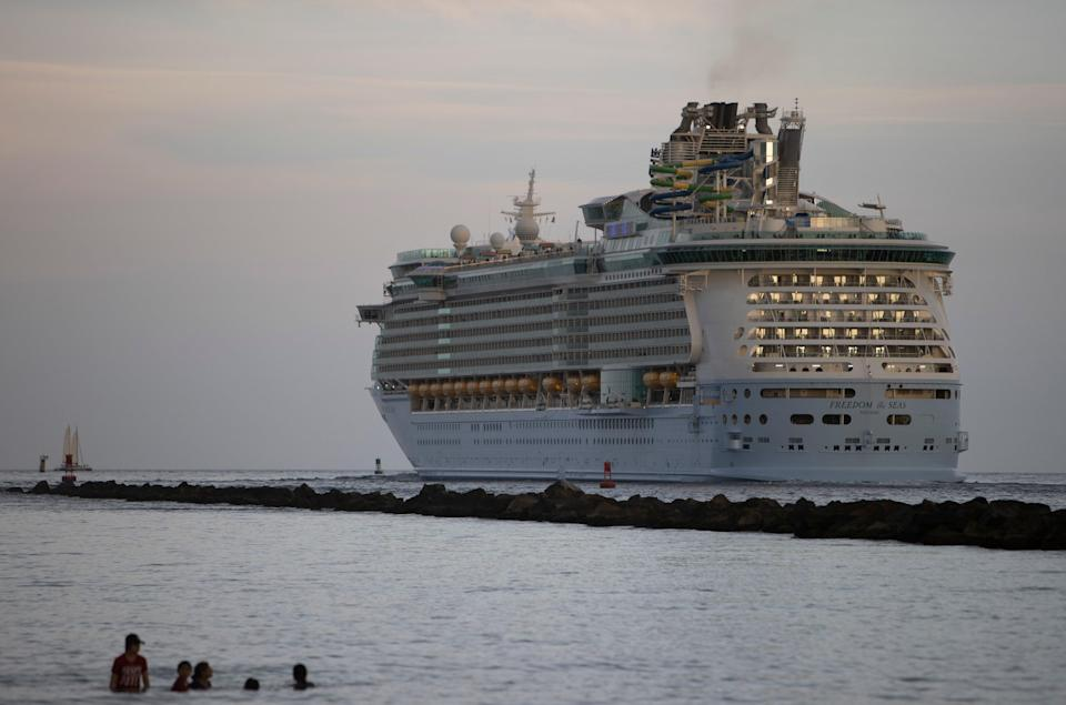 Six passengers onboard a Royal Caribbean Cruis ship have tested positive for Covid-19 (Getty Images)