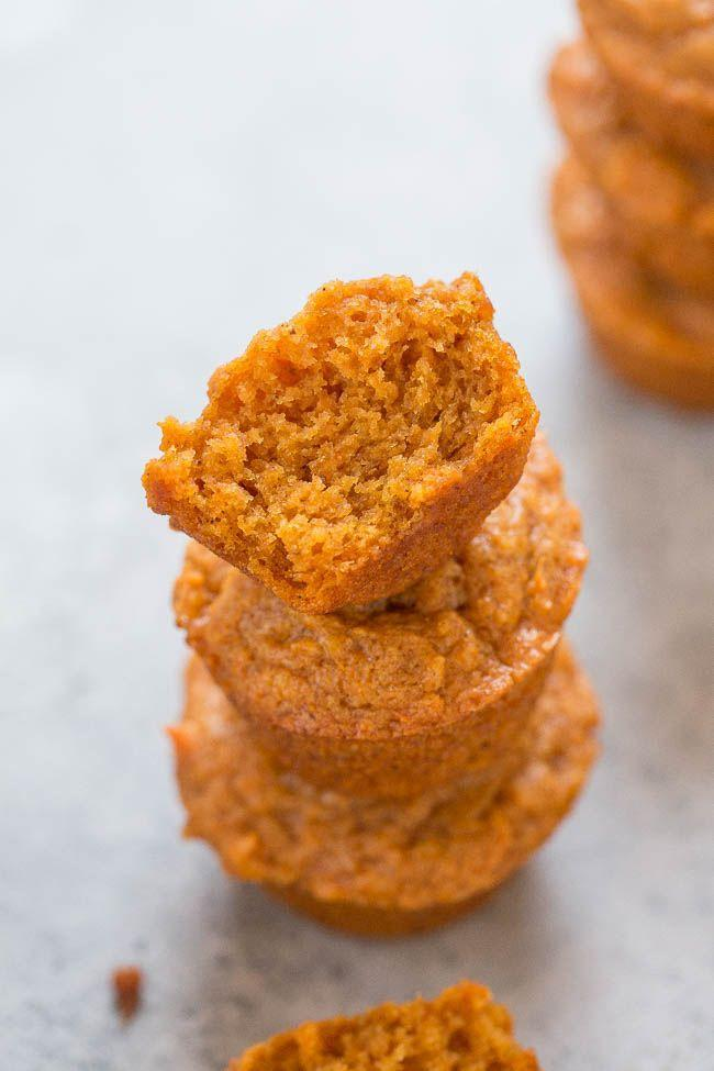 """<p>At just 64 calories per muffin, you won't feel an ounce of guilt enjoying a few for breakfast.</p><p><strong>Get the recipe at <a href=""""https://www.averiecooks.com/skinny-mini-sweet-potato-muffins/"""" rel=""""nofollow noopener"""" target=""""_blank"""" data-ylk=""""slk:Averie Cooks"""" class=""""link rapid-noclick-resp"""">Averie Cooks</a>.</strong></p>"""
