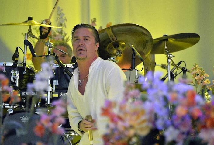 Faith No More lead singer Mike Patton performs at the Hellfest heavy metal and hard rock music festival Hellfest in Clisson, near Nantes, western France on June 20, 2015 (AFP Photo/Georges Gobet)
