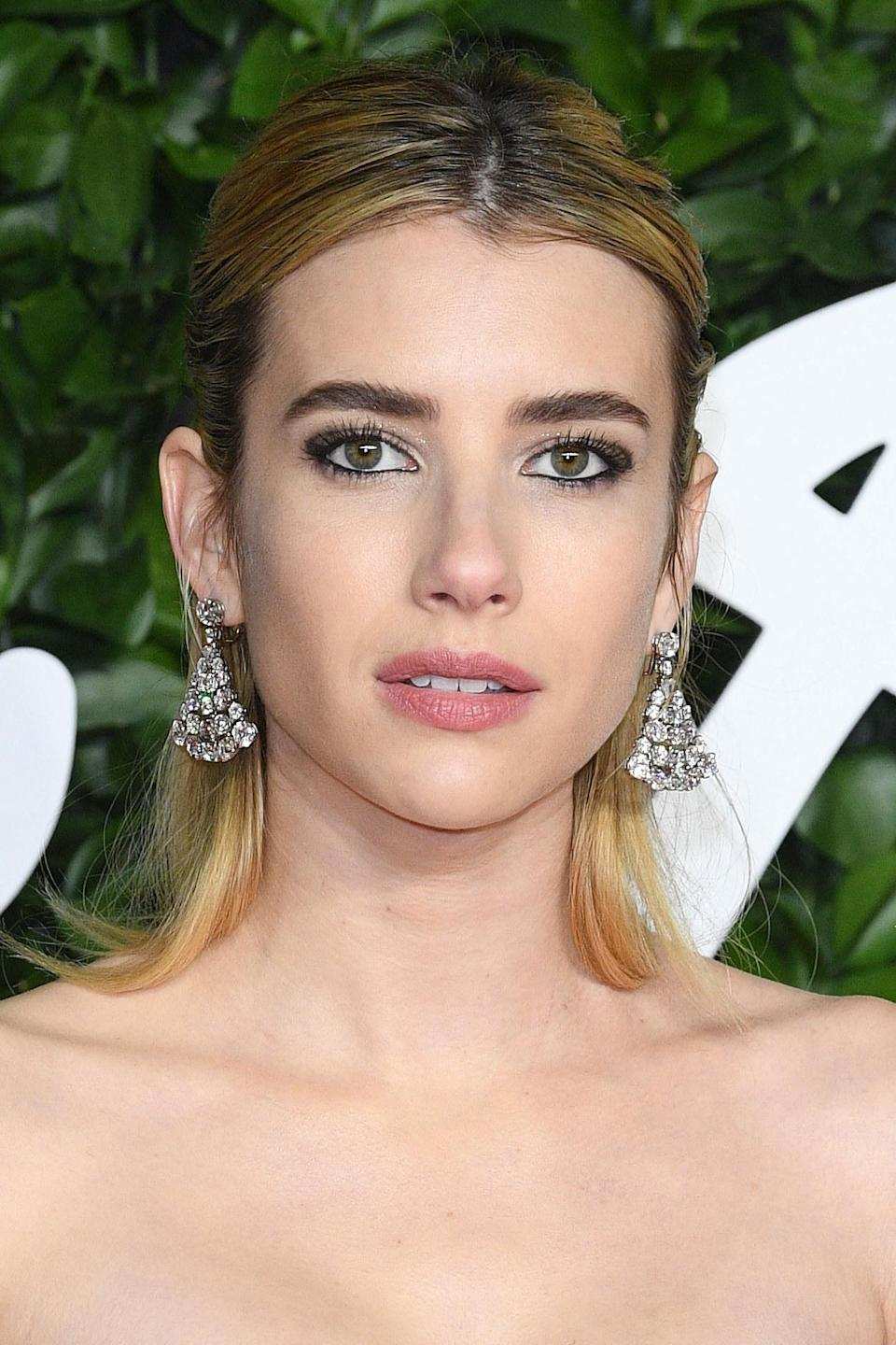 Emma Roberts is pictured at The Fashion Awards in London in 2019