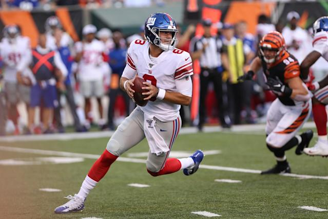 Daniel Jones is looking much more than competent for the Giants this preseason. (Photo by Ian Johnson/Icon Sportswire via Getty Images)