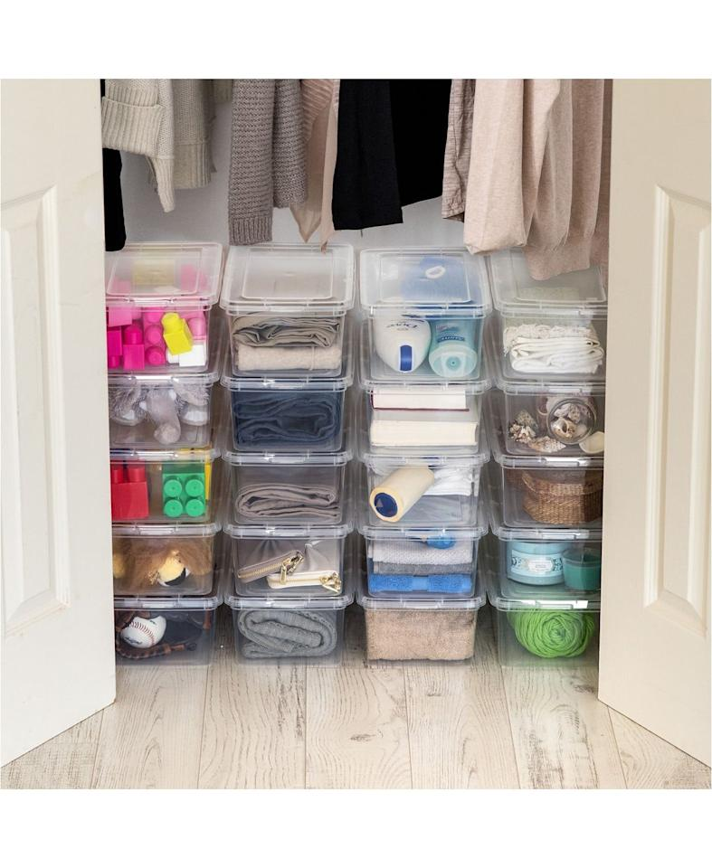 "<p>Get these <a href=""https://www.popsugar.com/buy/IRIS-USA-Iris-5-Quart-Storage-Boxes-491554?p_name=IRIS%20USA%20Iris%205%20Quart%20Storage%20Boxes&retailer=macys.com&pid=491554&price=28&evar1=casa%3Aus&evar9=46628109&evar98=https%3A%2F%2Fwww.popsugar.com%2Fphoto-gallery%2F46628109%2Fimage%2F46628639%2FIRIS-USA-Iris-5-Quart-Storage-Box&list1=shopping%2Corganizing%2Corganization%2Cmacys%2Chome%20shopping&prop13=api&pdata=1"" rel=""nofollow"" data-shoppable-link=""1"" target=""_blank"" class=""ga-track"" data-ga-category=""Related"" data-ga-label=""https://www.macys.com/shop/product/iris-5-quart-storage-box-20-pack?ID=8770611&amp;CategoryID=206384#fn=sp%3D3%26spc%3D4429%26ruleId%3D78%7CBOOST%20ATTRIBUTE%7CBOOST%20SAVED%20SET%26searchPass%3DmatchNone%26slotId%3D11"" data-ga-action=""In-Line Links"">IRIS USA Iris 5 Quart Storage Boxes</a> ($28, originally $41) for your closet.</p>"