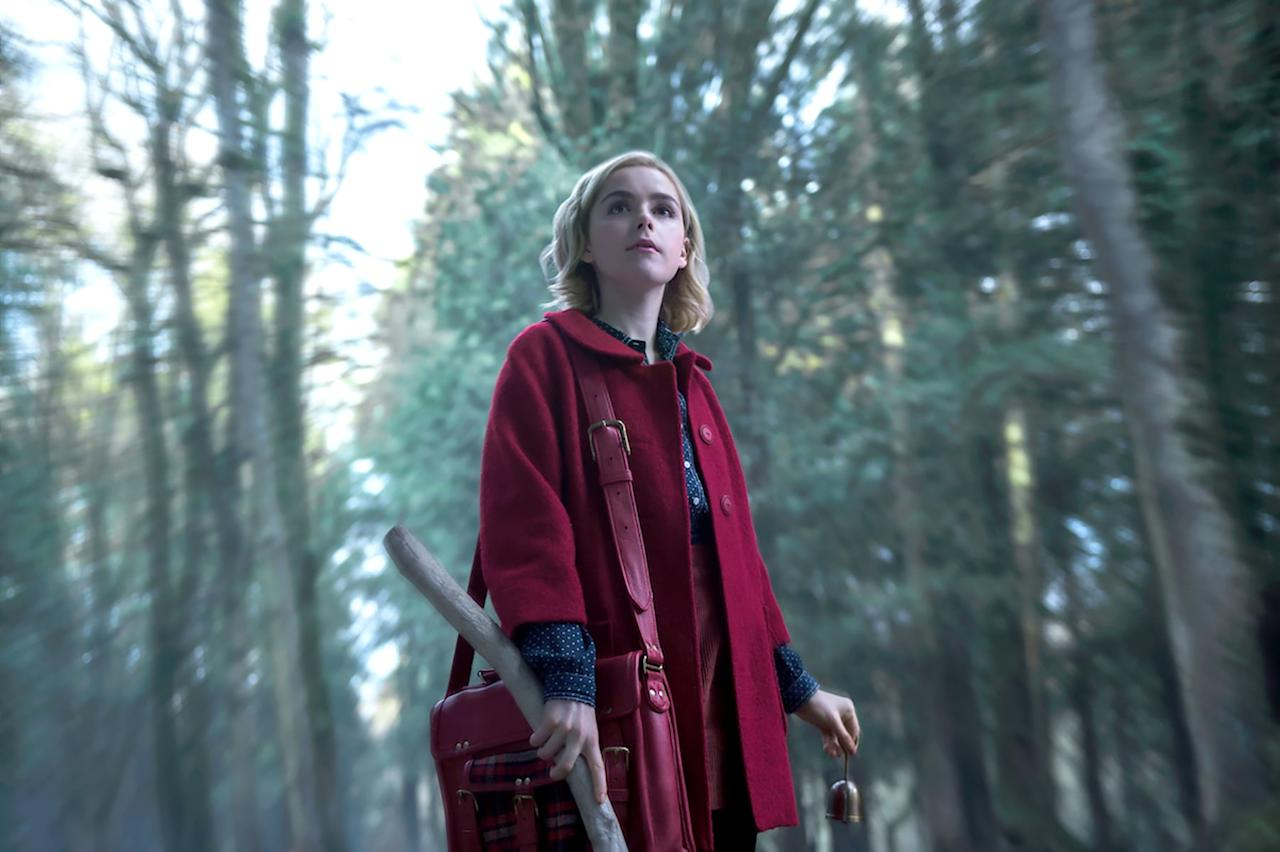 <p>The most iconic outfit from <strong>Chilling Adventures of Sabrina</strong> would have to be the red coat. As Sabrina navigates the trials and tribulations of being half witch, half mortal, she tends to sport her eye-catching red coat.</p> <p><strong>What to wear:</strong> A collared red coat and, of course, Sabrina's iconic headband. </p>