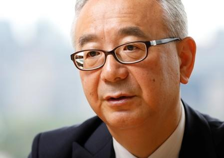 Isao Teshirogi, President and CEO at Shionogi & Co Ltd, speaks during an interview with Reuters in Tokyo
