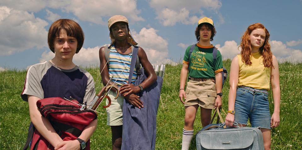 """Stranger Things"" stars Noah Schnapp, Caleb McLaughlin, Gaten Matarazzo and Sadie Sink return for an upcoming fourth season of the popular retro Netflix show."