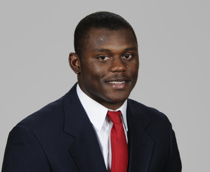 This 2018 photo provided by the UGA Athletic Association shows defensive back Deandre Baker. Baker is a possible pick in the 2019 NFL Draft.(John Kelley/UGA Athletic Association via AP)