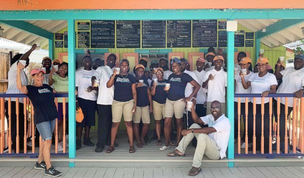 PHOTO: Melinda and her staff in Anguilla on opening day for the 2019 season.<p>(Blanchards Anguilla Children's Fund)