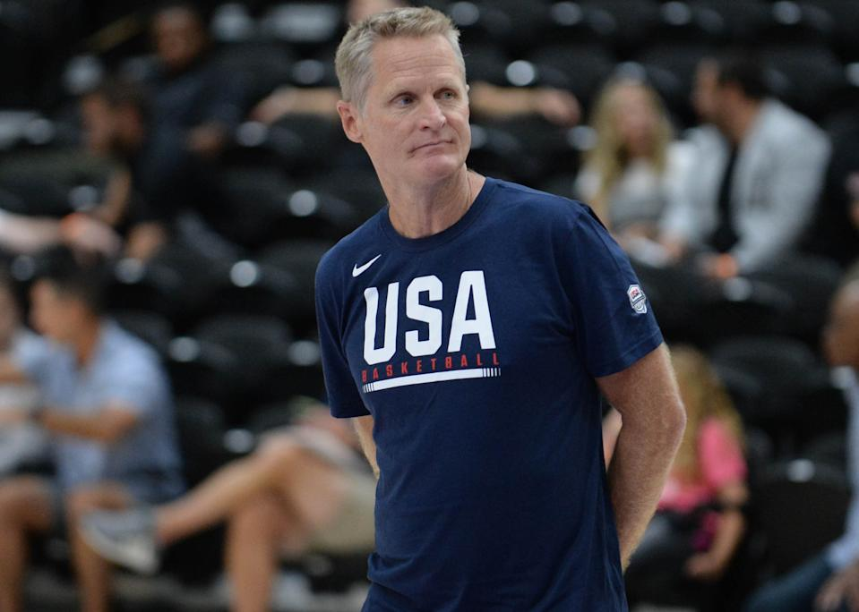 Steve Kerr would require kids play soccer if he were in charge of basketball in the USA. (Gary A. Vasquez-USA TODAY Sports)