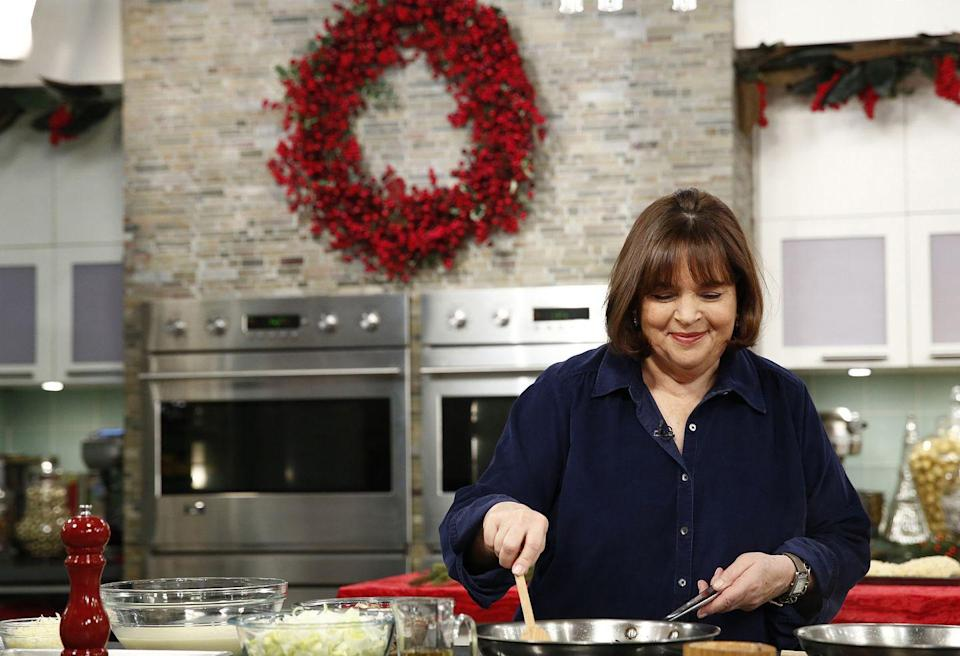 """<p><a href=""""https://www.delish.com/restaurants/news/a52165/ina-gartens-new-show-cooking-like-a-pro/"""" rel=""""nofollow noopener"""" target=""""_blank"""" data-ylk=""""slk:Ina Garten's show"""" class=""""link rapid-noclick-resp"""">Ina Garten's show</a> is one of Food Network's most popular ever, despite the fact that you'd be overcome with envy by the end of every episode, thinking: I want to be invited to Garten's dinner parties, eating Garten's complex French foods, giggling through a conversation with Jeffrey.</p>"""