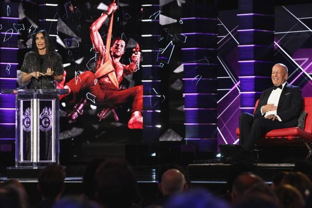 Bruce Willis and Demi Moore at The Roast of Bruce Willis 2018