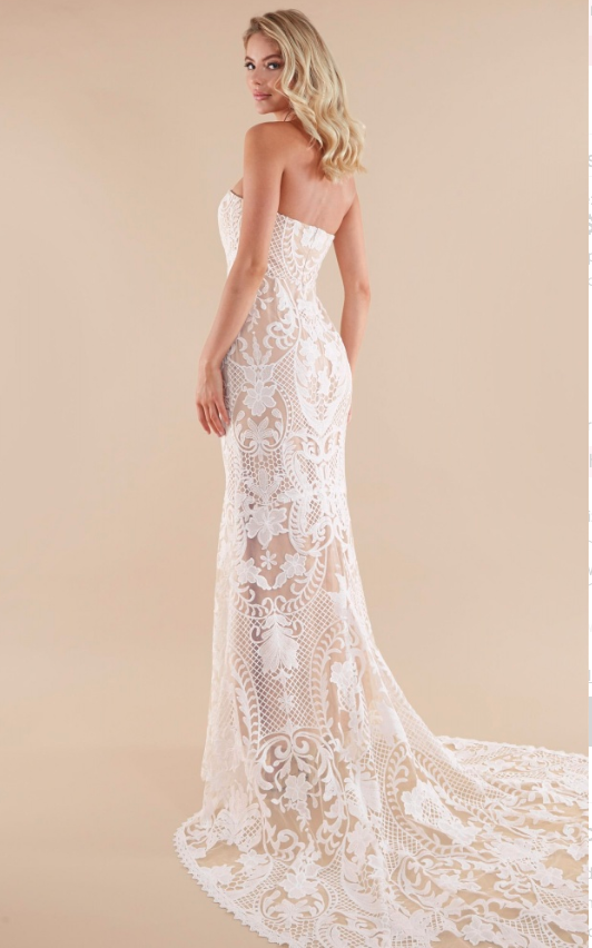 Showpo Lets Get Married Gown In White Lace