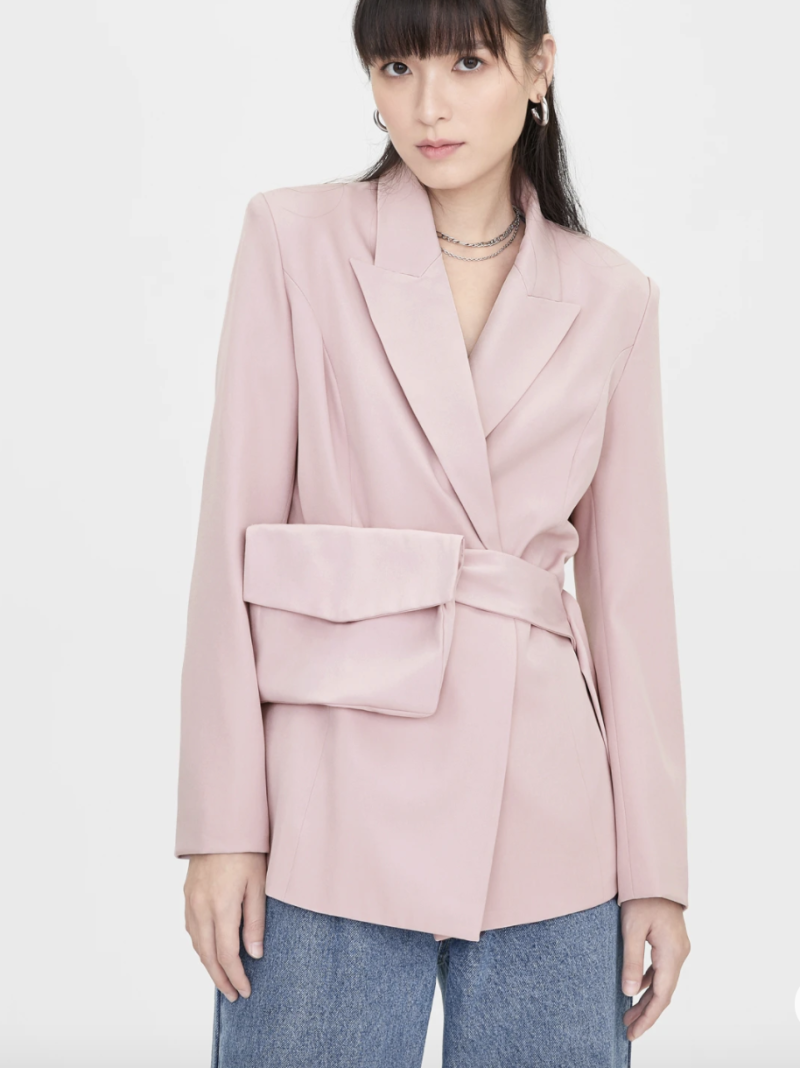 Belted bag blazer, S$64. PHOTO: Pomelo