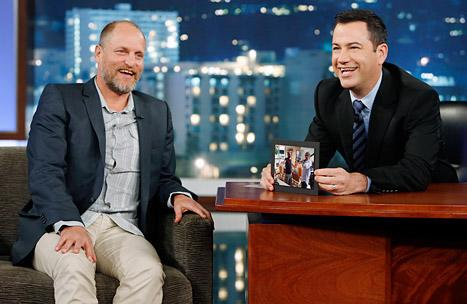 """Woody Harrelson """"Could Barely Stand Up"""" Due to Hangover at Movie Premiere, He Tells Jimmy Kimmel"""