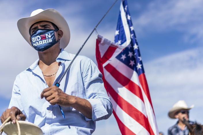 Latino supporters of the Biden/Harris ticket