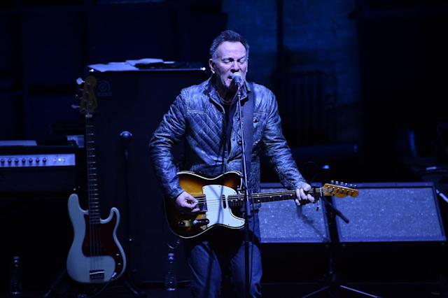 Bruce Springsteen performs at the 2018 Tribeca Film Festival on April 23, 2018, in New York City. (Photo: Theo Wargo/Getty Images for Tribeca Film Festival)