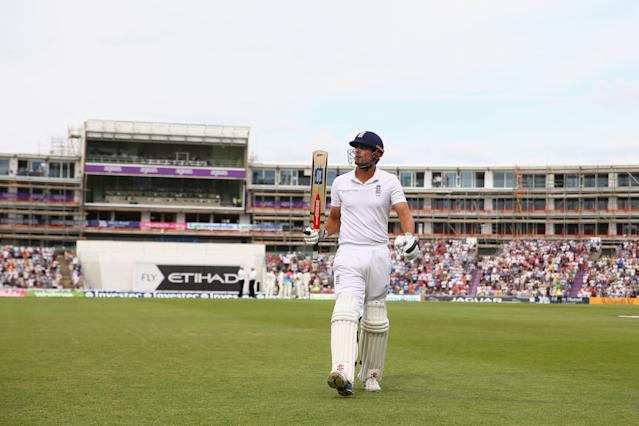 <p>Under pressure due to a lack of runs, Cook scored 95 against India in the third Test of the 2014 series, with the crowd's reaction to his innings convincing him to remain as captain. Despite this period, Cook actually ends with a better average as captain, than not. (Getty Images) </p>