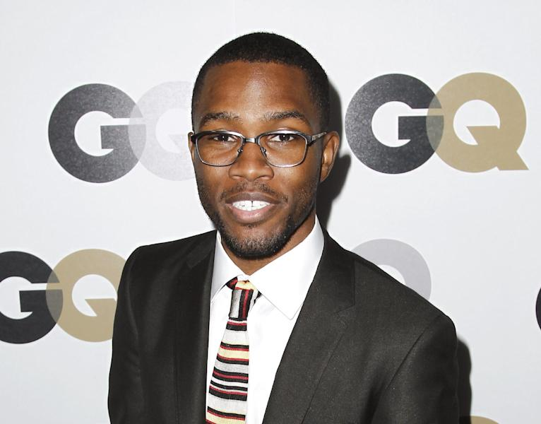 """FILE - This Nov. 17, 2011 file photo shows musician Frank Ocean at the 16th annual GQ """"Men of the Year"""" party in Los Angeles. A Los Angeles County Sheriff's Department spokesman said Monday Feb. 4, 2013, that the agency expects to close its investigation into a fight between Brown and Ocean last month due to online comments Ocean recently posted stating he was not interested in pressing charges against Brown. (AP Photo/Matt Sayles, file)"""