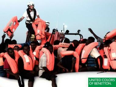 United Colors Benetton slammed by French NGO for featuring photograph of migrants in advertisement