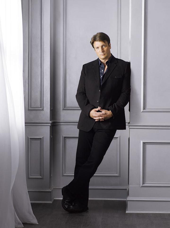 "Nathan Fillion stars as Richard Castle in ""Castle."""