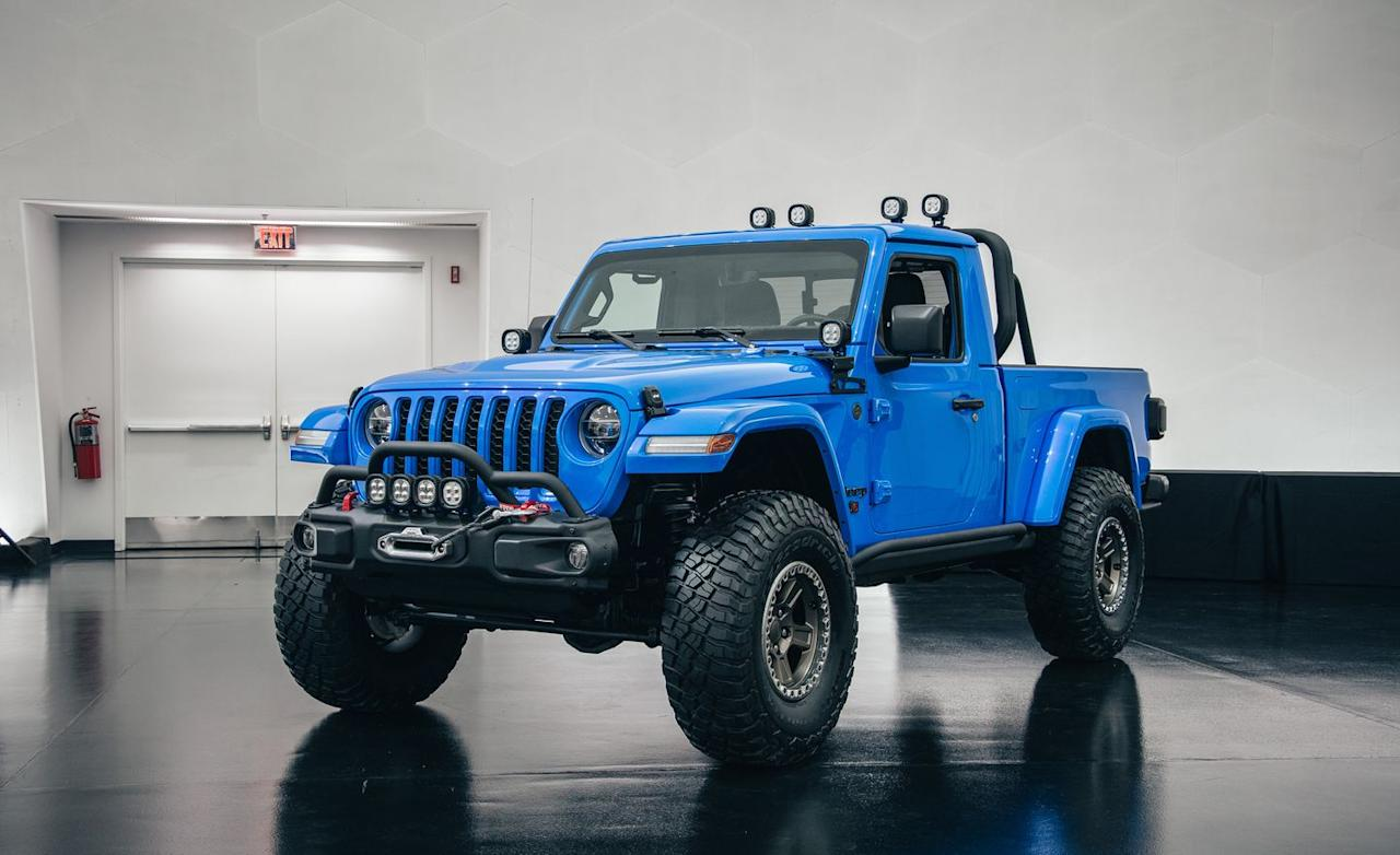 """<p>To celebrate its history of two-door trucks, for this year's Easter Jeep Safari, Jeep has created the J6 concept, based on <a href=""""https://www.caranddriver.com/jeep/gladiator"""" target=""""_blank"""">Jeep's new Gladiator</a> (which is only available as a four-door).</p>"""