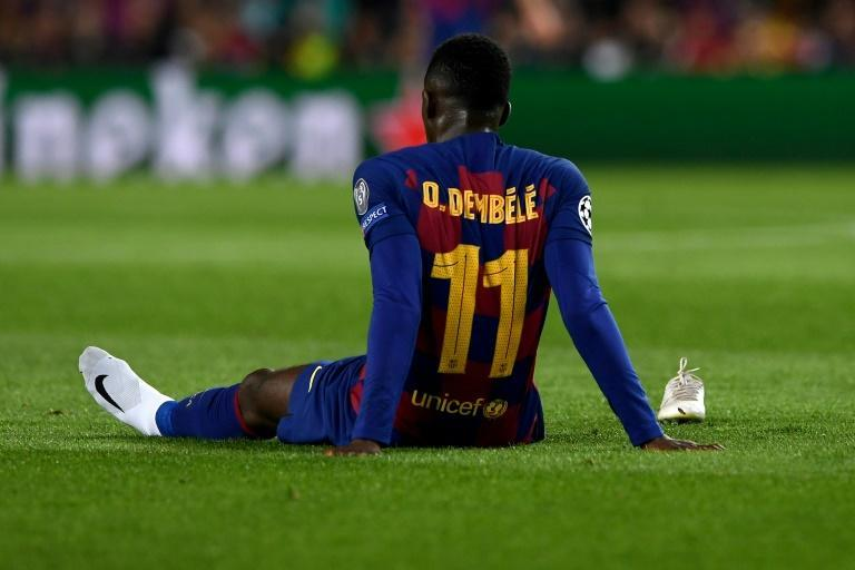 Down but not out: Barcelona say injury-prone French attacker Ousmane Dembele is staying