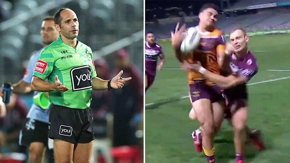Pictured right, Manly fullback Tom Trbojevic's match-winning play on Xavier Oates.