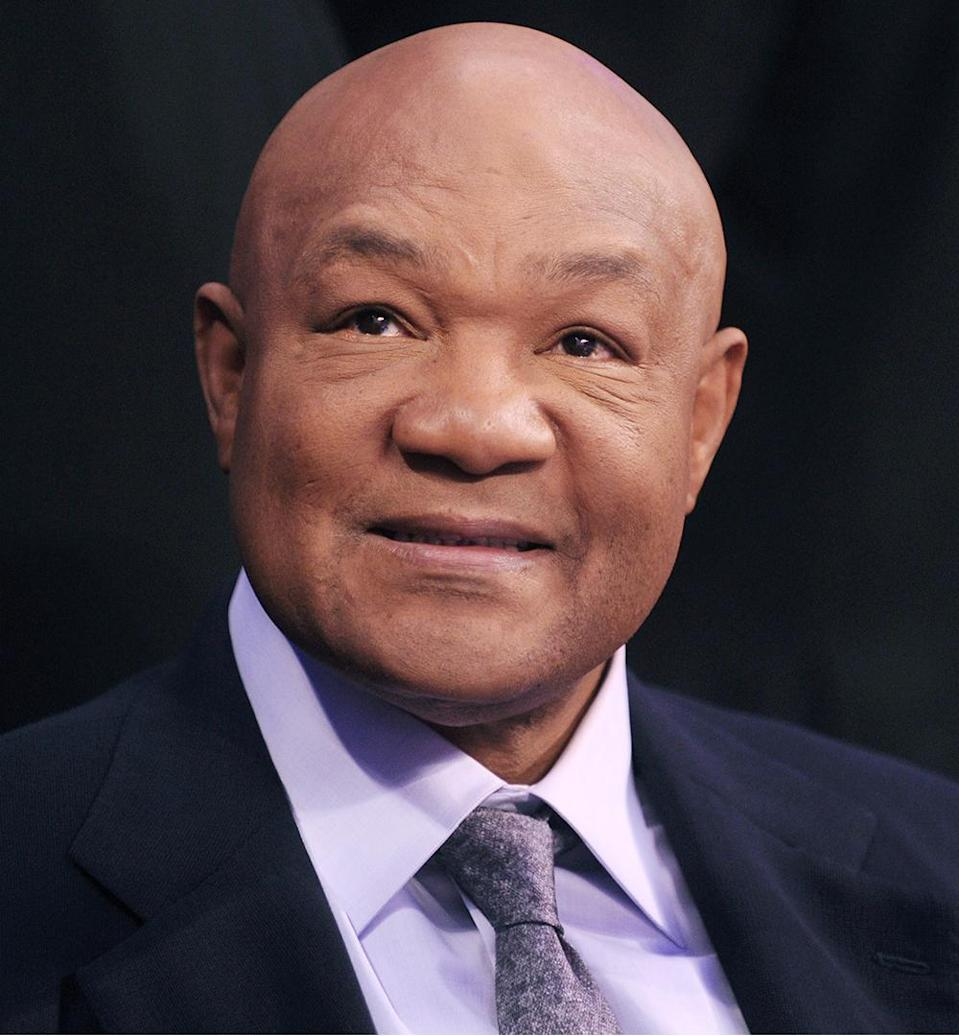 "<p><strong>Number of Marriages: </strong>5 </p> <p><a href=""https://people.com/archive/george-foreman-vol-35-no-15/"" rel=""nofollow noopener"" target=""_blank"" data-ylk=""slk:The famed boxer"" class=""link rapid-noclick-resp"">The famed boxer</a> has been married to current wife Mary Joan Martelly since 1985, but before her, he was married to Adrienne Calhoun from 1971 to 1974, Cynthia Lewis from 1977 to 1979, Sharon Goodson from 1981 to 1982 and Andrea Skeete from 1982 to 1985. </p>"