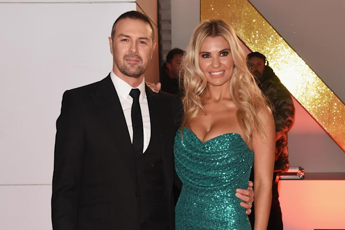 Paddy McGuinness (L) and Christine McGuinness attend the National Television Awards 2019 in London, England. (David M. Benett/Dave Benett/Getty Images)
