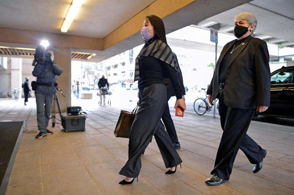 Huawei Technologies CFO Meng Wanzhou arrives at court in Vancouver, Canada, on March 1, 2021. Photo: Reuters
