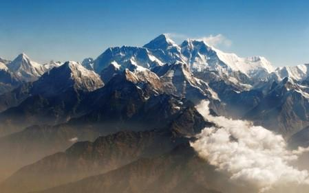 FILE PHOTO: Mount Everest and other peaks of the Himalayan range are seen from air during a mountain flight from Kathmandu