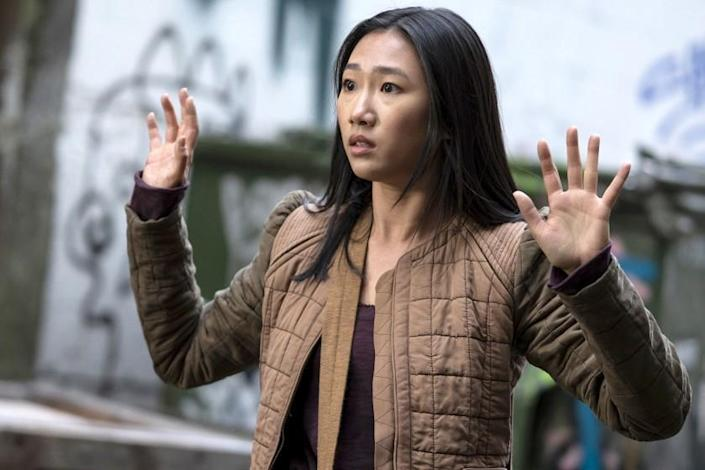 """Kung Fu -- The CW TV Series, Kung Fu -- """"Silence"""" -- Image Number: KF102c_0139r.jpg -- Pictured: Olivia Liang as Nicky Shen -- Photo: Kailey Schwerman/The CW -- © 2021 The CW Network, LLC. All Rights Reserved Olivia Liang in """"Kung Fu"""" on The CW."""