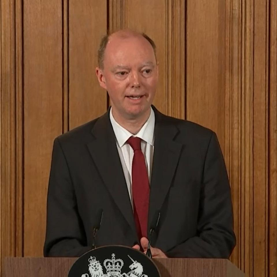 A screengrab taken from PA Video of Chief Medical Officer Chris Whitty speaking during a press conference on the government's coronavirus action plan, at 10 Downing Street, London.