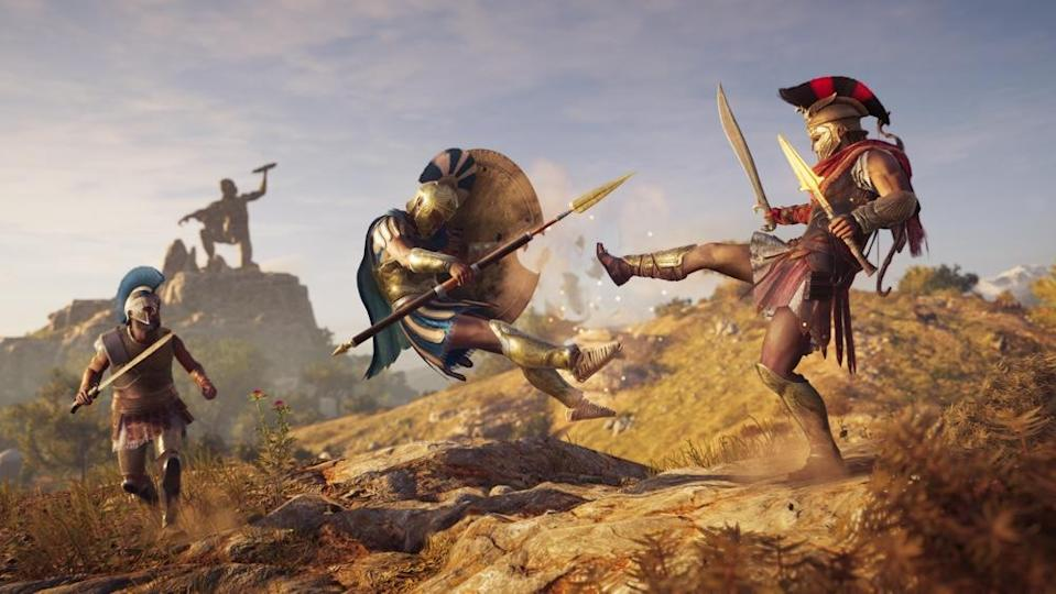 """If you don't try to Spartan kick someone at least 20 times in the first 10 minutes of playing '""""Odyssey,"""" you're not playing right."""