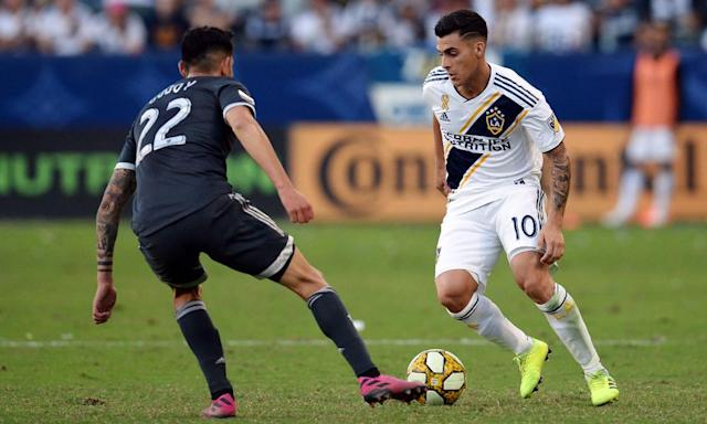 """<span class=""""element-image__caption"""">Cristian Pavón is back for a second season with LA Galaxy.</span> <span class=""""element-image__credit"""">Photograph: Gary A Vasquez/USA Today Sports</span>"""