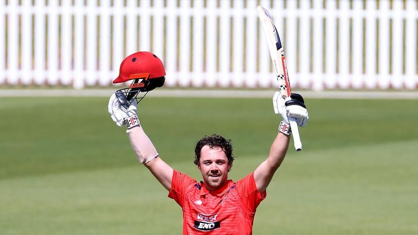 Travis Head smacks incredible one-day cup double century for South Australia against Queensland - ABC News