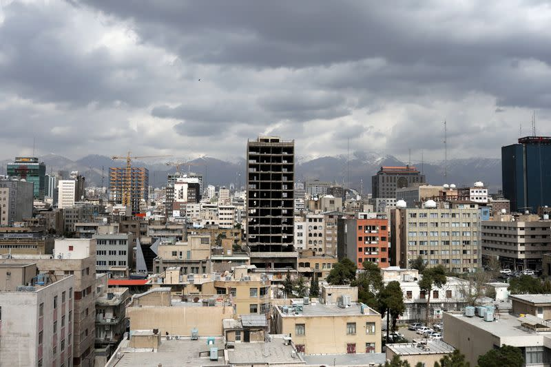 FILE PHOTO: General view of Tehran city, following the outbreak of coronavirus