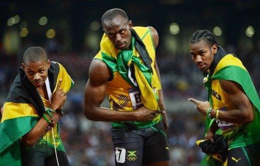 Usain Bolt led a Jamaican 1-2-3 in Thursday's Olympic 200m final