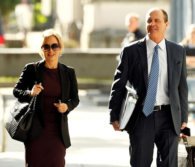 <p>Defence attorneys Angela Agrusa and Brian McMonagle arrive as the sexual assault trial for comedian Bill Cosby begins its fifth day at the Montgomery County Courthouse in Norristown, Pa., June 9, 2017. (Photo: Tom Mihalek/Reuters) </p>