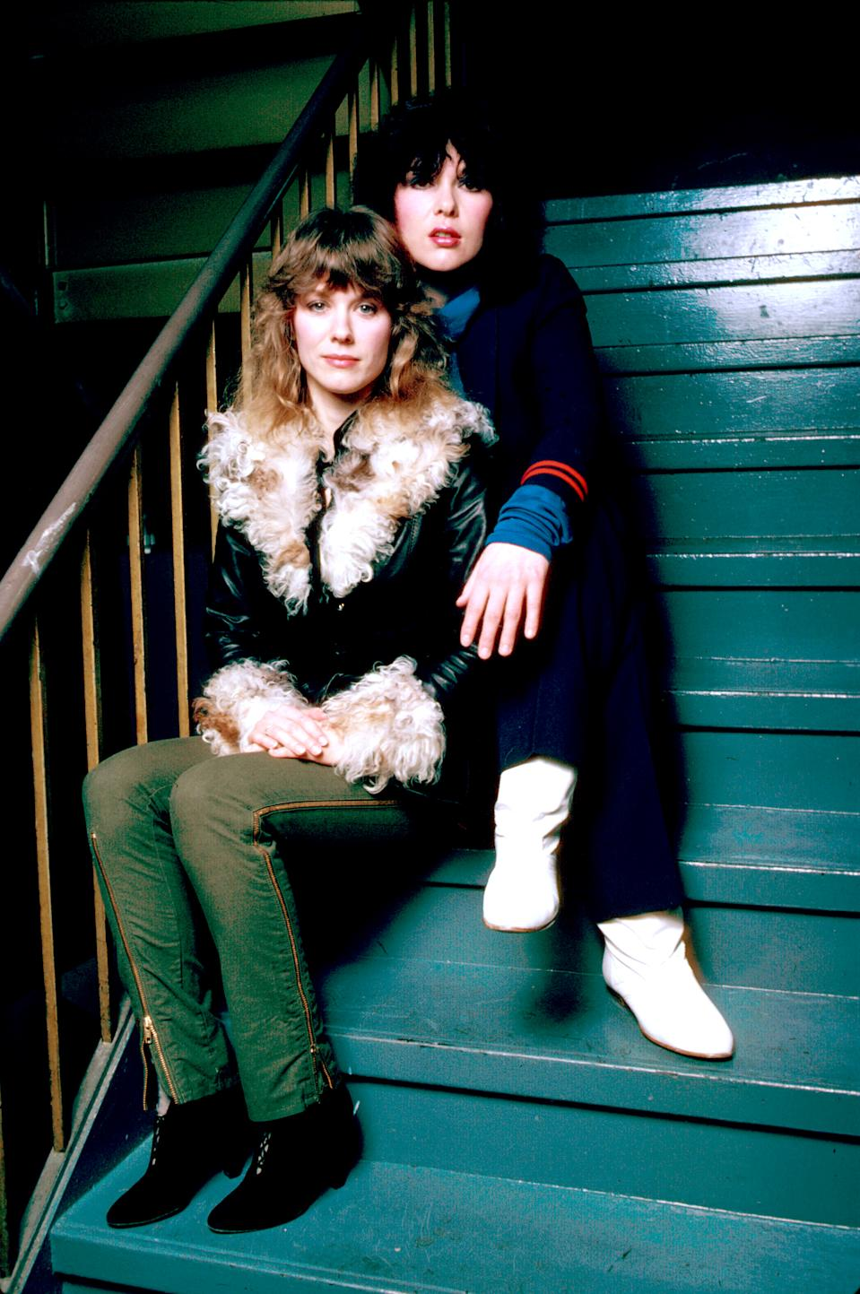 Nancy and Ann Wilson of Heart in 1982.  (Photo: David Mcgough/The LIFE Picture Collection via Getty Images)