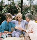 <p>In 1985, White began starring as Rose Nylund in <em>Golden Girls</em> alongside Bea Arthur, Estelle Getty, and Rue McClanahan. </p>