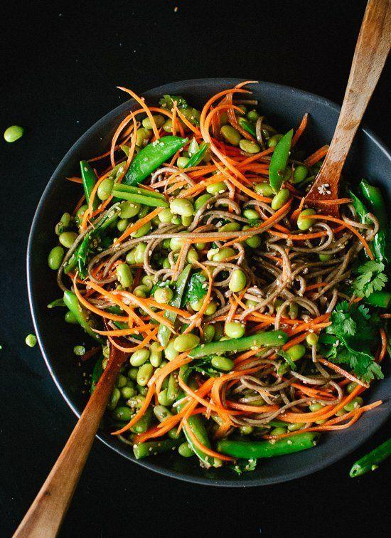 """<strong>Get the <a href=""""https://cookieandkate.com/2014/sugar-snap-pea-and-carrot-soba-noodles/#comment-101954"""" target=""""_blank"""">Sugar Snap Pea and Carrot Soba Noodles recipe</a>fromCookie + Kate</strong>"""
