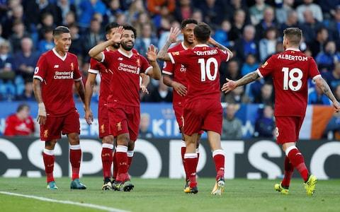 "Premier League betting: offers and suggested bets 6:13PM 42 mins Firmino smacks a shot just past the post, leaving Liverpool fans with their hands on their heads. That could easily have been a third goal for the Reds. 6:12PM 41 mins Graham Poll says Okazaki was ""probably just onside."" Controversy at the King Power! 6:10PM 39 mins The ball's in the back of the Liverpool net, but Okazaki's effort is ruled out for offside. Replays appear to show Okazaki was being played on. That will definitely be a talking point at half time. 6:07PM 35 mins Ben Chilwell pings a perilous low cross into the Liverpool area, but Simon Mignolet gets his hands on the ball before it can find either Shinji Okazaki or Jamie Vardy. Chilwell has been one of the few bright sparks for Leicester so far Credit: Plumb Images 6:02PM 31 mins Salah, Coutinho and Firmino are combining well and putting Leicester under sustained pressure. 5:58PM 26 mins Mahrez wins a free kick 30 yards out, having been fouled by Alberto Moreno. Marc Albrighton's delivery into the box is easily cleared. 5:54PM What a free kick Coutinho takes full advantage of the dead-ball situation, sending a beautiful effort sailing past a despairing Schmeichel. Leicester have a lot to do to get back into this game. Coutinho shoots - and scores! Credit: John Sibley/Action Images via Reuters 5:53PM GOAL! Philippe Coutinho has doubled Liverpool's lead - it's now 0-2. Leicester 0 - 2 Liverpool (Philippe Coutinho, 23 min) 5:52PM 21 mins It's a caution for Wilfred Ndidi, as he brings down Alberto Moreno right in front of the Leicester box. Liverpool have a free kick in a great position. 5:51PM 19 mins Liverpool are dominating possession here and putting it to good use, marauding into the Leicester half over and over again. 5:47PM Salah puts Liverpool ahead What a cross from Coutinho! His curling delivery finds Salah at the back post, and he guides a header past Schmeichel and into the back of the net. 1-0 to the visitors. Salah celebrates his opener Credit: Action Images via Reuters/John Sibley 5:46PM Time on ball (0 - 15 min) Possession: Leicester vs Liverpool 5:46PM GOAL! An early opener from Mohamed Salah makes it 0-1 to Liverpool. Leicester 0 - 1 Liverpool (Mohamed Salah, 15 min) 5:44PM 12 mins So close for Liverpool! Emre Can shoots low from 25 yards and his effort ricochets off the upright, falling to the feet of Mohamed Salah. Salah can only sidefoot the rebound wide from a great position, however. That's a let-off for Leicester. 5:43PM Liverpool respond The visitors have their first shot of the game, in reply to two so far from Leicester. Leicester vs Liverpool shots on goal 5:42PM Liverpool enjoying plenty of touches of the ball so far Liverpool have had 133 touches of the ball compared to 43 by Leicester. Leicester vs Liverpool 5:38PM 7 mins Jordan Henderson pumps a dangerous ball into the box, and it's cleared for a corner. Coutinho is on set pieces but his first is straight into the arms of Kasper Schmeichel. 5:36PM 5 mins First chance of the match! Jamie Vardy gets in behind the Liverpool defence and shoots straight at Simon Mignolet from a tight angle. Mignolet parries it away into the path of Riyad Mahrez, but the Algerian can only fire over. Leicester are looking threatening on the break, as per usual. Vardy sees his effort saved Credit: Geoff Caddick/AFP 5:34PM 2 mins Liverpool produce a flowing passing move which leaves Emre Can in space to the right of the box, but he sees three consecutive crosses blocked. Hopefully the quality of delivery will improve as the match goes on. 5:29PM The teams are out ... and saluted by the King Power's plastic clappers. Without getting into a debate about whether or not plastic clappers are a symptom of the malaise at the heart of modern football, time to settle in and enjoy the match. 4:45PM Coutinho starts for Liverpool He wasn't at his best on Tuesday, but Coutinho is once again in the starting line-up. Can he win back Liverpool fans' affections with his performance today? Coutinho arrives at the King Power Credit: Plumb Images 4:34PM Can Liverpool avenge their midweek defeat? It's a rematch of the midweek League Cup clash between Leicester and Liverpool in today's late kick-off, and Jurgen Klopp will be hoping his team can do better than they did on Tuesday night. The Reds lost 2-0 at the King Power Stadium and crashed out of the cup at the first hurdle, with Shinji Okazaki and Islam Slimani getting the goals for Craig Shakespeare's side. Liverpool's defence came in for a lot of criticism after the match, with Klopp saying he was ""really sick"" of conceding soft goals. The line-ups will be considerably different for their meeting in the Premier League, but Liverpool's defensive shortcomings still loom large over the match. They have already conceded nine goals in the league this season, four more than anyone else in the top ten. Leicester are similarly leaky in defence, even if their blunders at the back have attracted fewer back-page headlines. It seems highly unlikely this fixture will end up goalless, especially with Jamie Vardy returning for the home side. Victory for Leicester would put welcome distance between them and the bottom three, with only goal difference keeping them out of the drop zone at the moment. Three points for Liverpool would propel them towards the top four, but anything else could lead to whispers of disillusionment echoing meaningfully around Merseyside. Can Jurgen Klopp take Liverpool to the top? Credit:  Matthew Ashton/Getty Images Europe 4:31PM Leicester team news Today's starting XI: Schmeichel, Simpson, Morgan (c), Maguire, Chilwell, Ndidi, King, Albrighton, Mahrez, Okazaki, Vardy. #LeiLivpic.twitter.com/aRGjQPI7vL— Leicester City (@LCFC) September 23, 2017   4:31PM Liverpool team news �� Confirmed #LFC matchday squad to face @LCFCpic.twitter.com/LPFwQnTIDy— Liverpool FC (@LFC) September 23, 2017   4:23PM Match preview What is it? It's the second meeting in a week between the Premier League champions of 2015-16 and the 18-time champions of England. On Tuesday night in the Carabao Cup - and yes it still feels strange to type the words Carabao Cup - Leicester hosted Liverpool at the King Power and won 2-0. Shinji Okazaki and Islam Slimani scored the second-half goals to give the home side the same margin of victory as their 2015-16 encounter in the Premier League, in the city we all like to refer to as  Ratae Corieltauvorum. Back then it was Jamie Vardy's two goals that sent Liverpool on their way with a 2-0 defeat. Last season Leicester ran out 3-1 winners in Craig Shakespeare's first match in charge.  When is it? It's on the weekend of the sixth round of Premier League fixtures, specifically on Saturday, September 23.  What time is kick-off? This match between 15th-placed Leicester and eighth-placed Liverpool (at least those were the positions when Saturday came) has been selected for your tea-time treat. It kicks off at the aforementioned King Power Stadium at 5.30pm.  What TV channel is it on? The match will be broadcast in the United Kingdom of Great Britain and Northern Ireland on BT Sport 1. Those of you without access to British Telecom's premier sports channel should join Will Magee right here for our live blog that will inform and entertain.  What is the team news, who is injured and suspended? Leicester gave groin-troubled Vardy the night off in the Carabao Cup but he is likely to start on Saturday evening if he passes a fitness test. Two other regular squad members, Christian Fuchs and Leonardo Ulloa, have also been monitored during the week and given the all-clear, though Ben Chilwell may still deputise for the Austria left-back and Ulloa's place on the bench is no longer assured now that Kelechi Iheanacho is match fit, and Slimani and Okazaki made the difference on Tuesday night.  Vicente Iborra hurt his groin on Tuesday and may have to sit out the rematch, while Matt James is out for the rest of October with an achilles injury. Robert Huth's ankle problem has kept him sidelined since the summer and there has been no date fixed for his return.  Pick your Leicester side to play Liverpool Dejan Lovren is unlikely to make it back to play at centre-half having withdrawn from the last two line-ups with a back injury. He has not been able to train all week and Joel Matip, Jurgen Klopp's other default selection, did not play in the Carabao Cup after sustaining a knock during the draw with Burnley. He is far more likely to make it. Emre Can played the 90 minutes against Burnley but missed out on the squad for midweek after also suffering some bruising. He is in Saturday's squad and Klopp's plans. The main question, though, is whether he will start Philippe Coutinho and if he does, how long will he give him. England internationals Nathaniel Clyne and Adam Lallana continue to be long-term absentees, and also missing will be Sadio Mane who is serving the last match of his three-game suspension for the red card he received at the Etihad.  Pick your Liverpool XI to take on Leicester What are they saying? Kasper Schmeichel, Leicester City ""I think we can expect a reaction from Liverpool,"" the goalkeeper told the Leicester website and LCFC TV. ""It was clear to see that their manager wasn't happy after the game, so he'll be rallying them up. ""They'll want a reaction, but we've got to not just match that, but outdo that. We have to make sure that Tuesday was a momentum changer for us so that we get back into that winning habit again. ""Liverpool are a top side and if you look at their front line, it's formidable. It's very fluid and fast. Kasper Schmeichel has helped to ensure Liverpool have lost all three games at the King Power under Jurgen Klopp's management Credit: PETER POWELL/EPA ""It's enjoyable to play against them because you want to be playing against the best and testing yourself all the time against the best. ""We've had some really good results against Liverpool, so we're hoping that can continue."" Jurgen Klopp, Liverpool ""I think both teams will not think too much about this [Carabao Cup] game because there will be different line-ups for sure, on both sides obviously,"" said the German. ""Leicester has a typical style of play: Jamie Vardy is a pretty key player for this kind of play and also [Riyad] Mahrez and both were not involved. ""They go for set-pieces: [Christian] Fuchs will be back probably so that means throw-ins are back in the game and all that stuff."" What does the table look like?  What are the odds? Leicester 3/1 Liverpool 10/11 Draw 5/2 Best-priced accumulators 