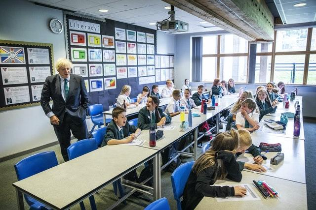 Boris Johnson visits Castle Rock school